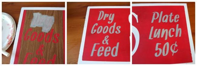 Dry Goods Stencil