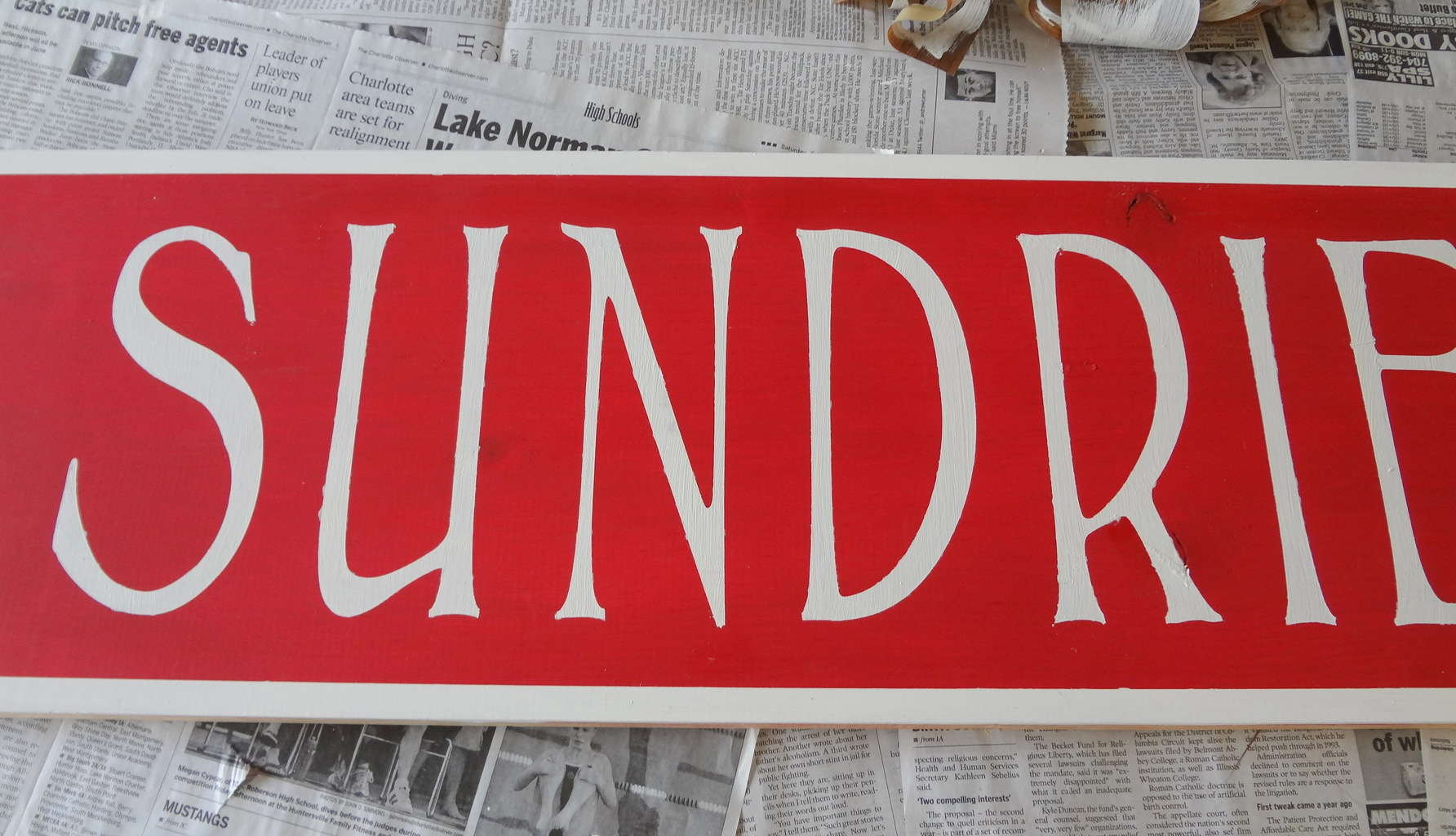 How to make a Vintage Sundries Sign
