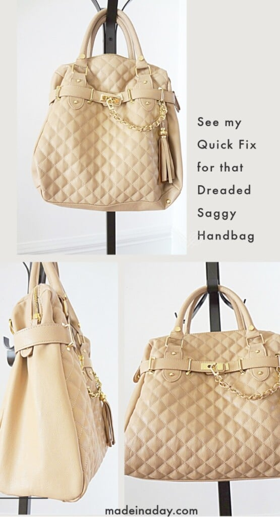 how to fix a saggy purse, DIY handbag shaper, DIY purse base shaper