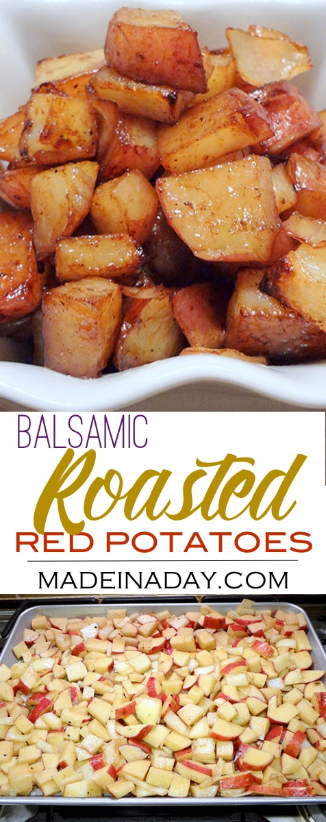 #Balsamic Roasted Red Potatoes Recipe, Oven #roasted #potatoes, easy #sidedish, great with steak!