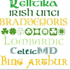 FREE Fonts for St Patricks Day 1
