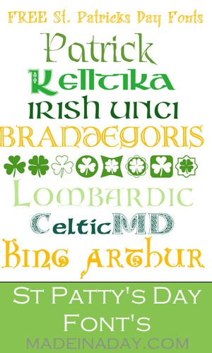 St Patrick's Day Free Font's for blogs, graphics and images. My favorite Celtic font's for the Irish holiday.