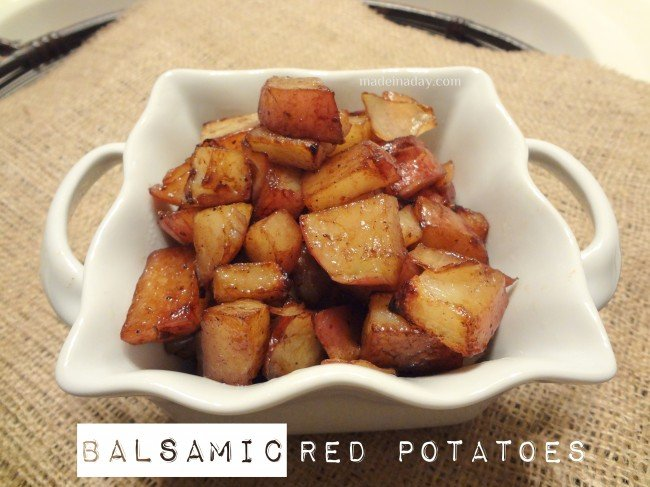 Balsamic Potatoes ~madeinaday.com