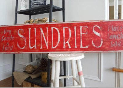 Vintage Sundries Sign 6