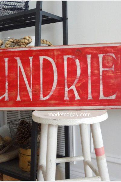 Vintage Sundries Sign