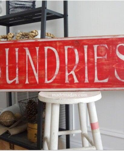 Vintage Sundries Sign 31