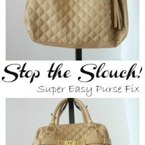 Quick Purse Fix ~Stop the Slouch! 6