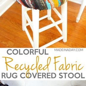 Recycled Fabric Rug Stool 31