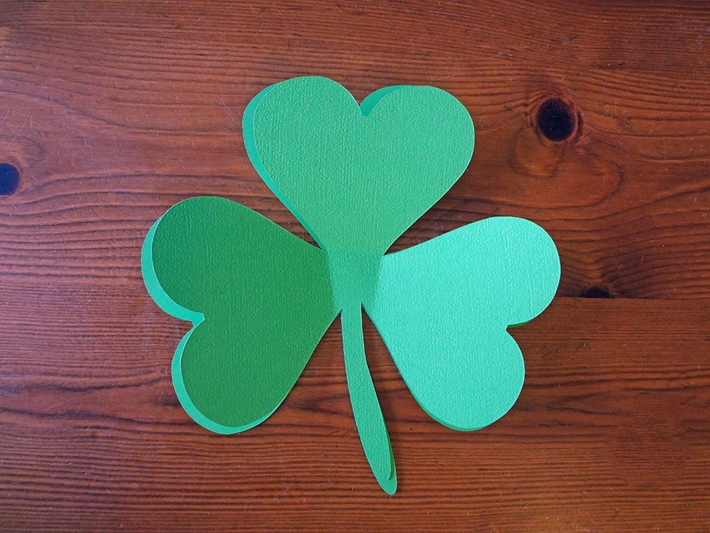 cutout clovers, cut out shamrocks, SVG alternative
