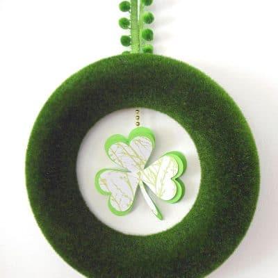 Minimal St. Patrick's Day Shamrock Wreath
