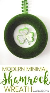 Minimal St. Patrick's Day Shamrock Wreath 1