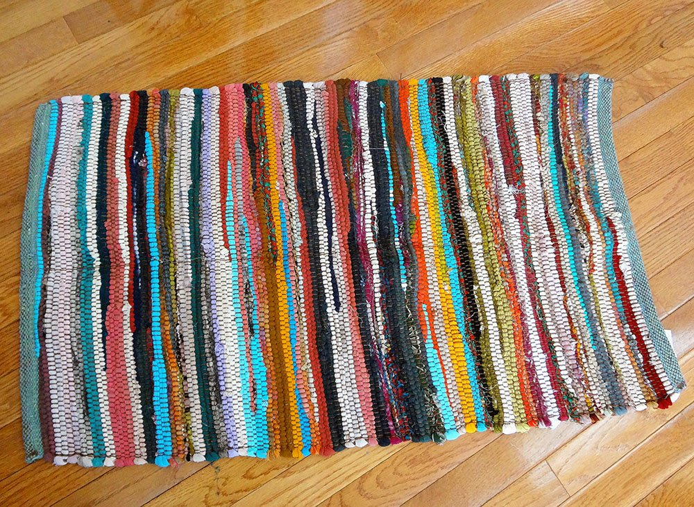 Recycled Fabric Rug Stool 34