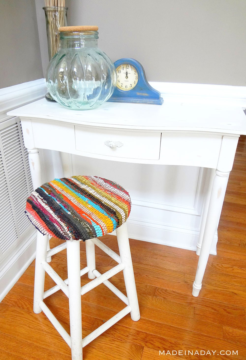 Recycled Fabric Rug Stool 42