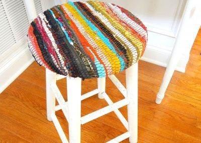 Recycled Fabric Rug Stool 27