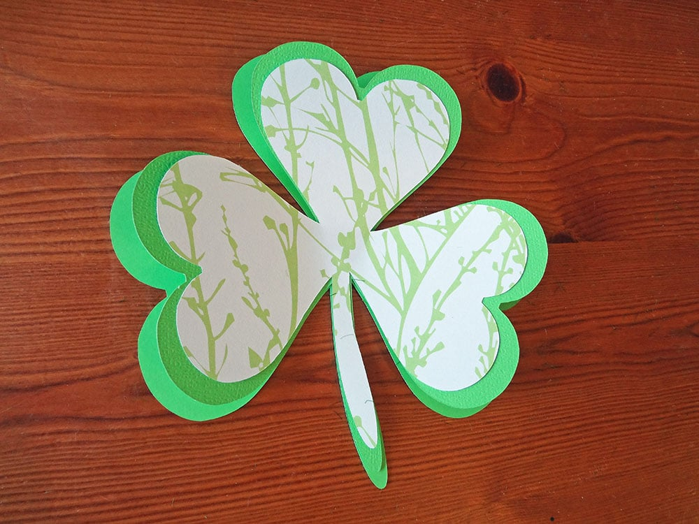 Clover cut out, dingbat clover