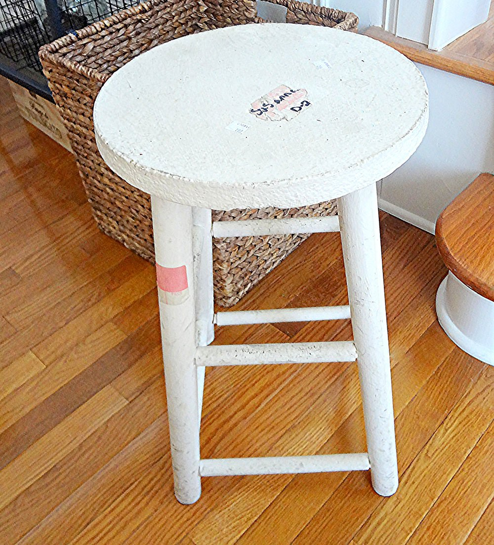 Recycled Fabric Rug Stool 33