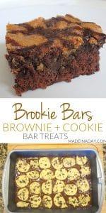Brookie Bars: Chocolate Chip Cookie Dough Brownie Recipe 1