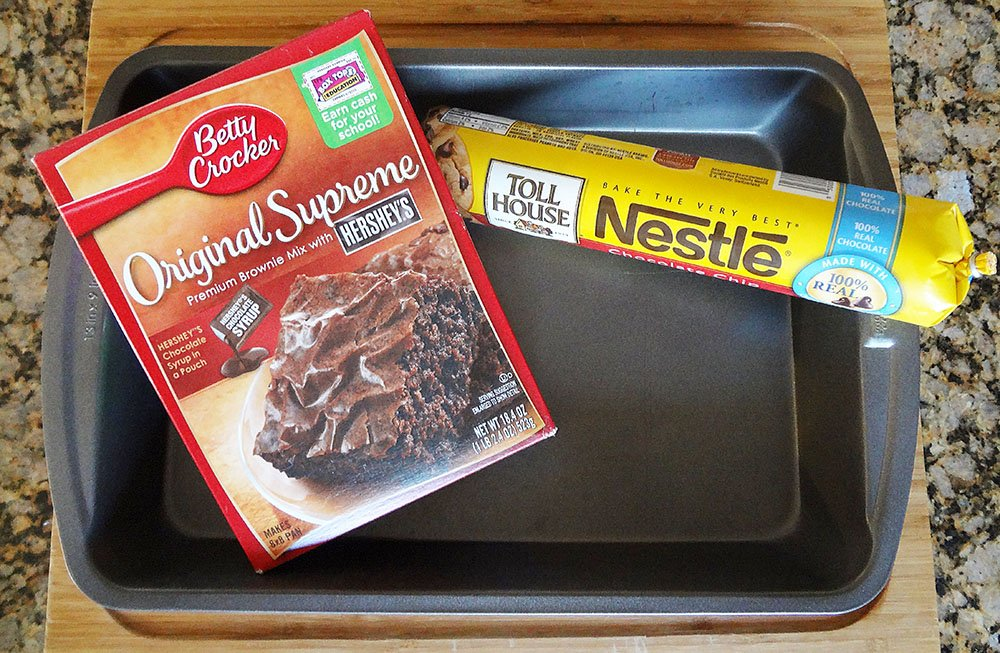 Brookie Bars: Chocolate Chip Cookie Dough Brownie Recipe 2