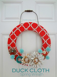 Duck Cloth Spring Wreath!!