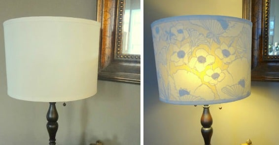 Fabric Lined Lamp shade