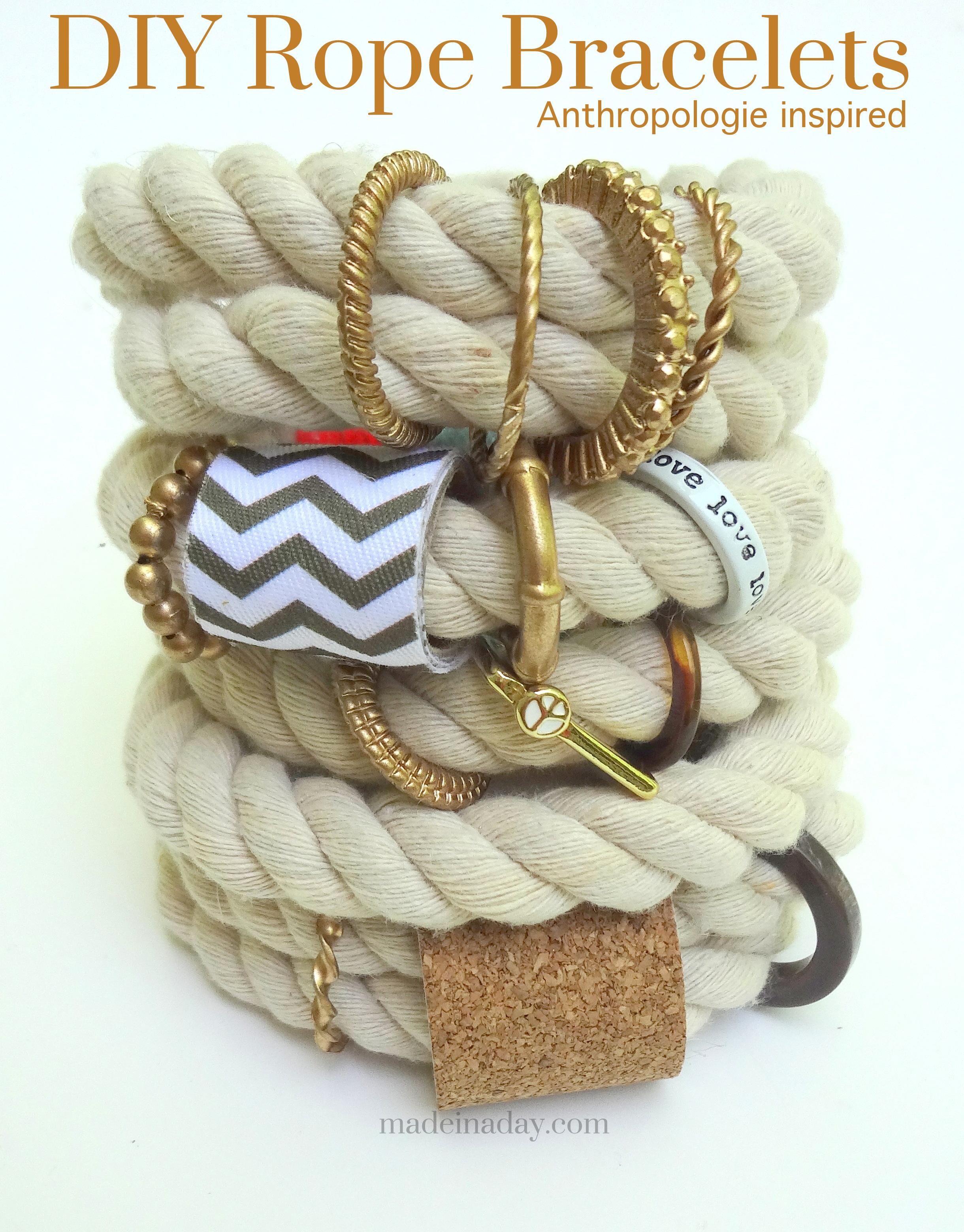 DIY Rope Bracelets Anthropologie Hack