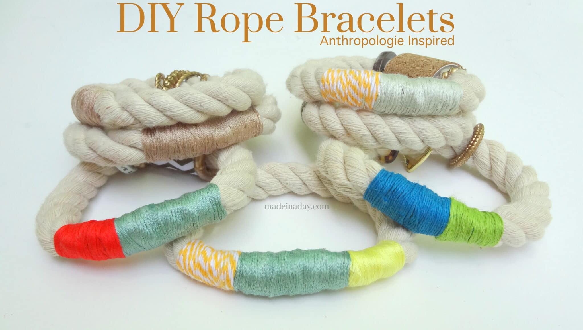 Rope Bracelets #anthrohack