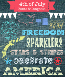 4th of July Fonts & Dingbats