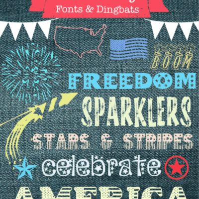 Free Dingbats Fonts for 4th of July