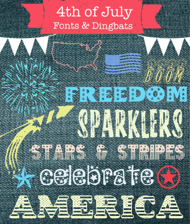 4th of July Fonts Dingbats