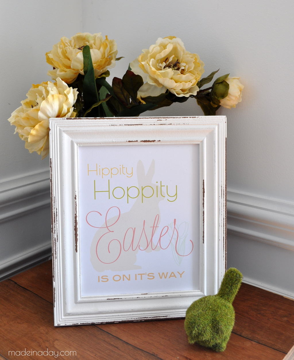 Hippity Hoppity Easter's on it's Way FREE Printable madeinaday.com