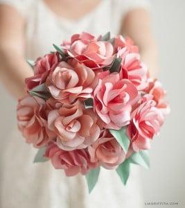 paper flower wedding briadal bouquet