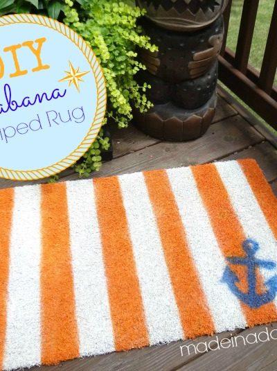 Painted Stripe Rug Cabana Style