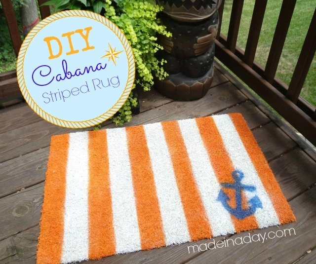 DIY Cabana Striped Rug