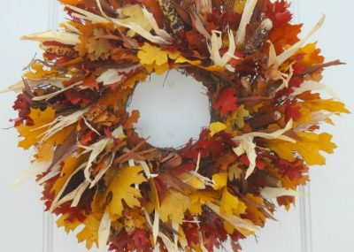 Balsam Hill Harvest Foliage Fall Wreath Review 16
