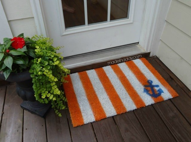 DIY Striped Rug