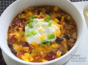 Turkey Taco Soup madeinaday.com
