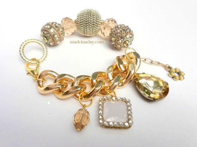Beads, Chain & Charms Bracelet