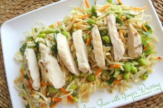 Asian Slaw w/ Ginger Dressing