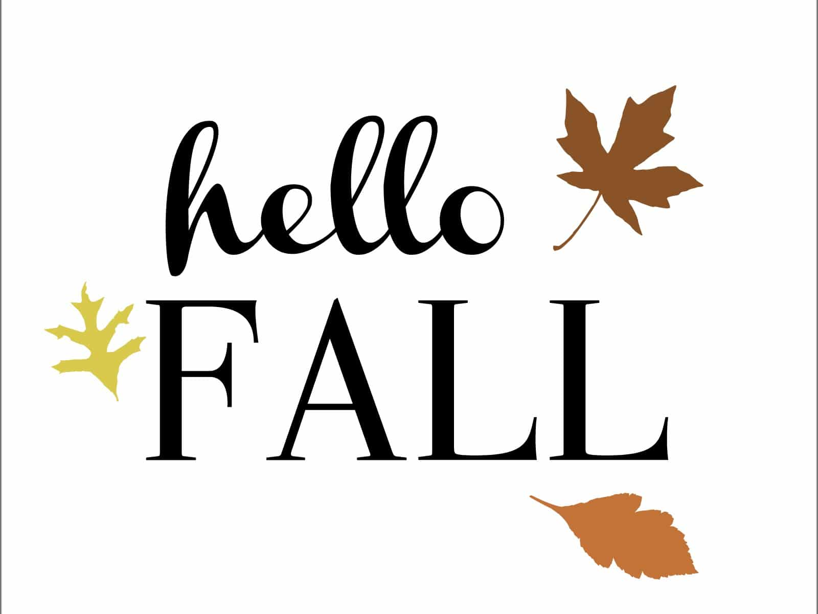Hello Fall Harvest Wreath FREE Printable | Made in a Day