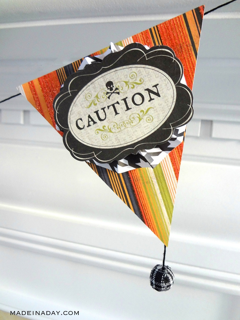 Caution Halloween Banner