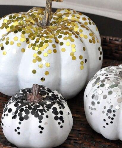 3 Glamorous Confetti Pumpkins for Fall 31