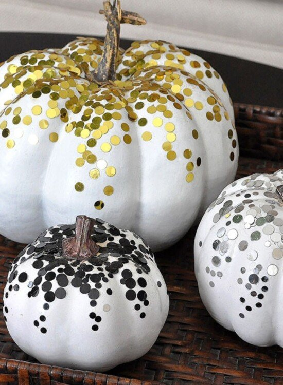 3 Glamorous Confetti Pumpkins for Fall 34