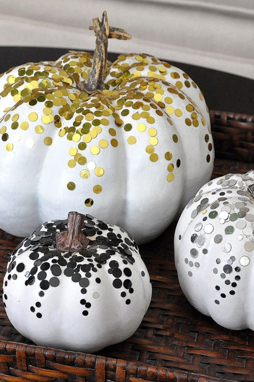 3 Glamorous Confetti Pumpkins for Fall