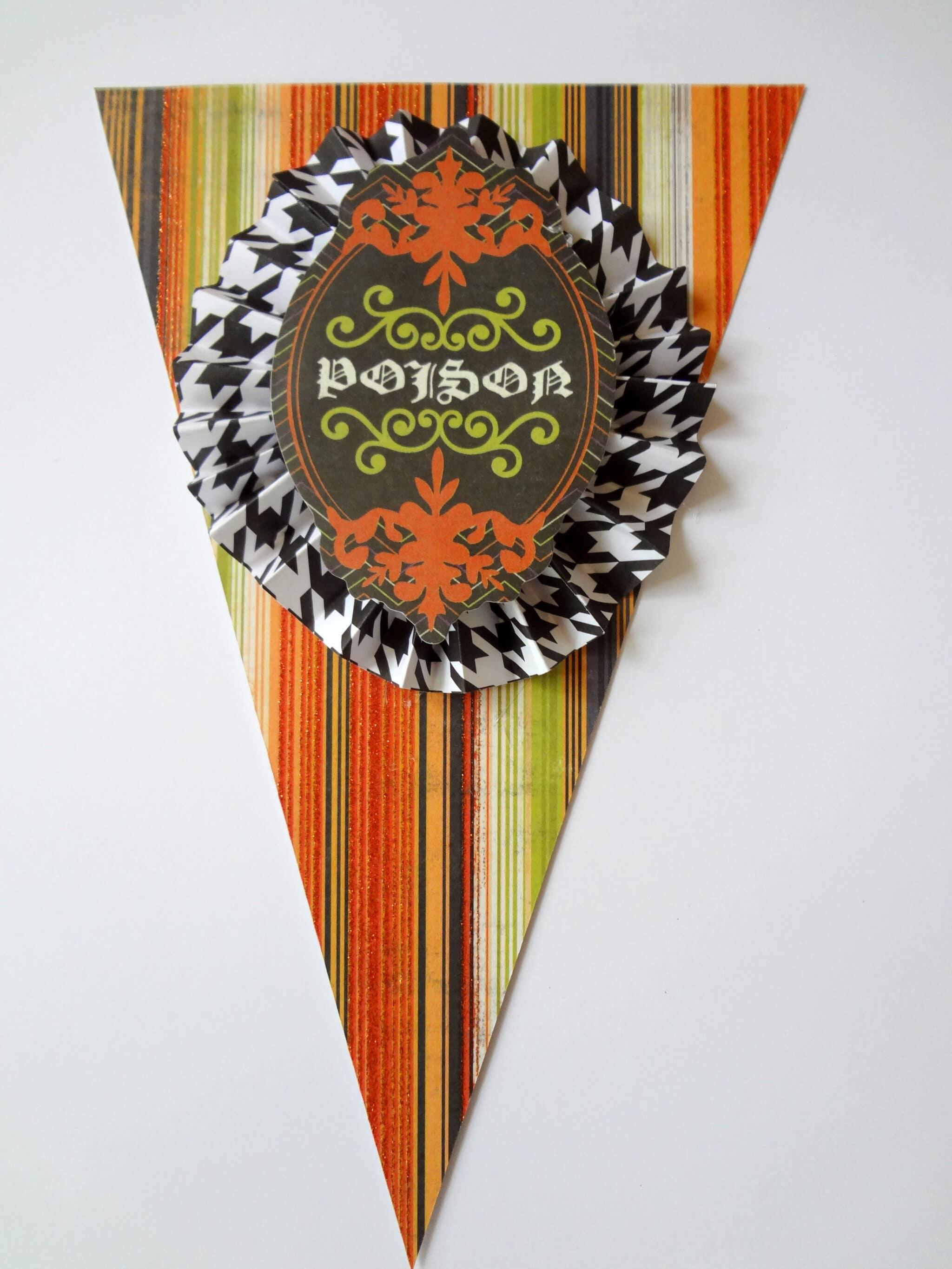 DIY Poison Halloween Banner