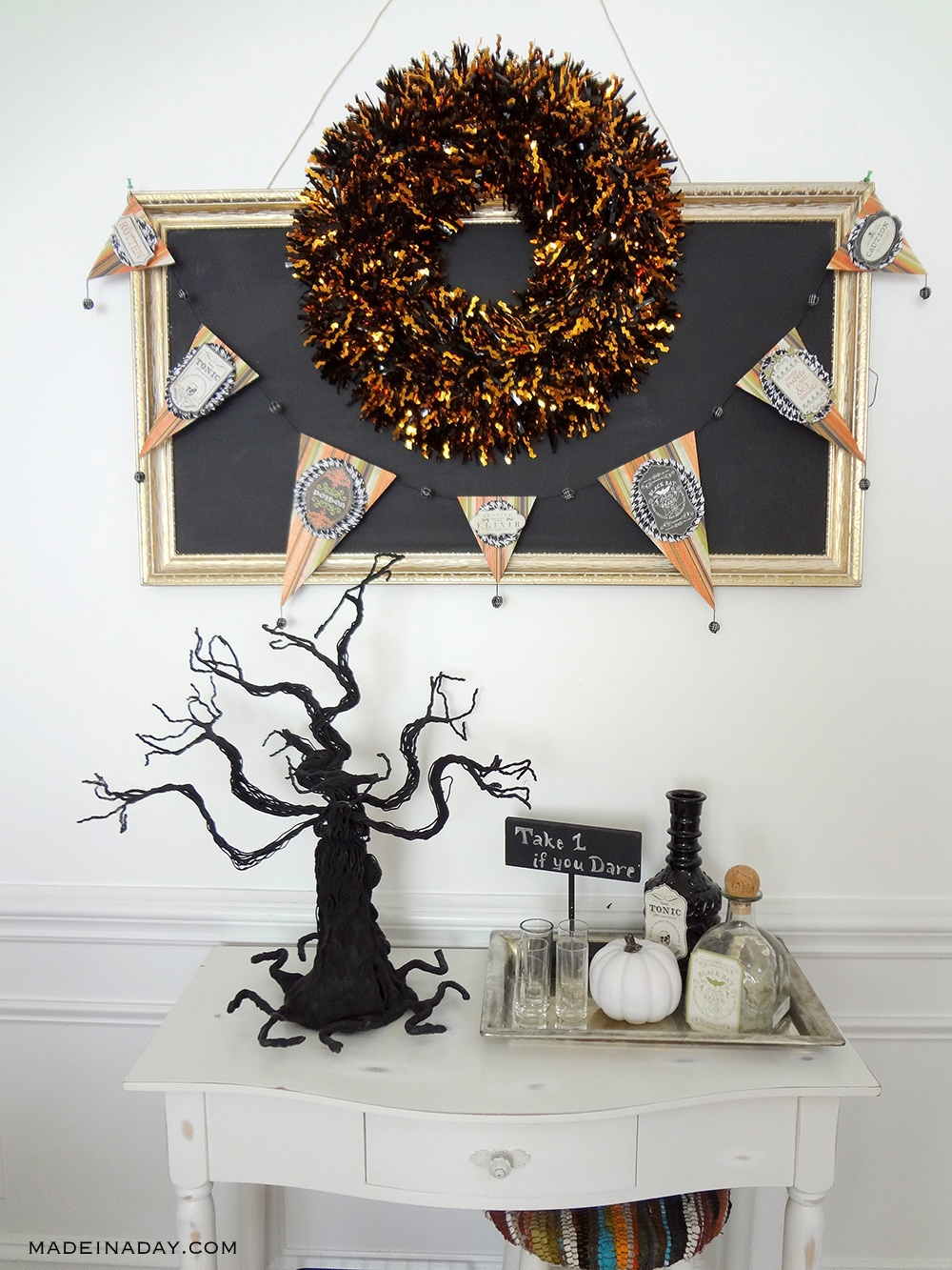 Halloween Poison Bar Banner Garland