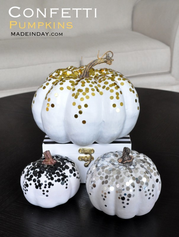 Fall Gold Dot Metallic Pumpkin Tutorial madeinaday.com