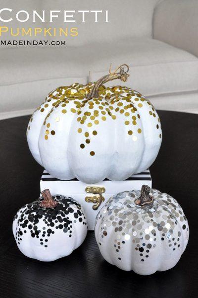 Confetti Pumpkins!