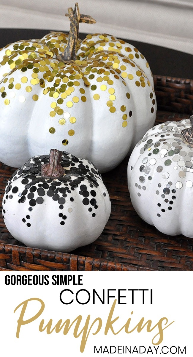 3 Glamorous Confetti Pumpkins for Fall 1