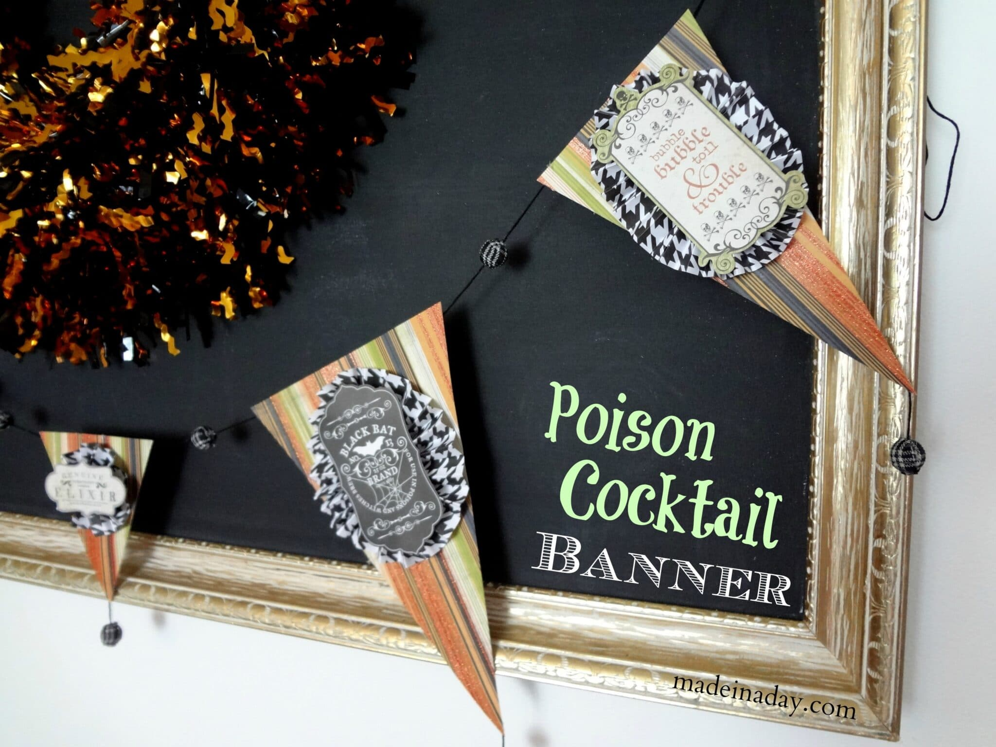 Halloween Poison Garland