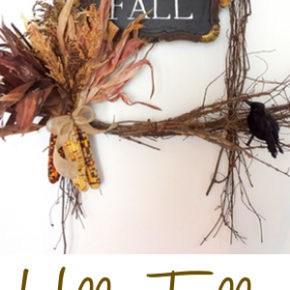 Hello Fall Harvest Wreath + FREE Printable 1